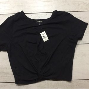 Express Knotted Crop Top New